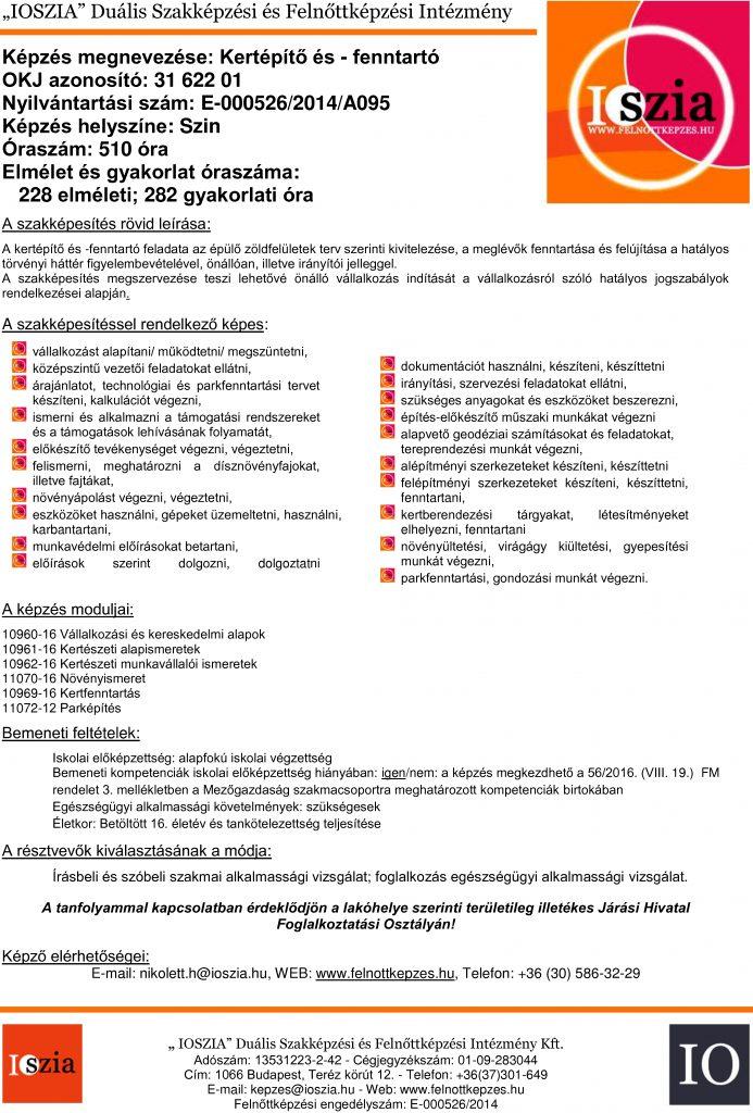 Kertépítő és -fenntartó OKJ - Szin - felnottkepzes.hu - Felnőttképzés - IOSZIA